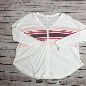 colsie Sweaters - Colsie 70s sweater slouchy cardigan ribbed white L